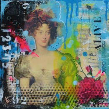 """Saatchi Art Artist Janet Edens; Collage, """"Alive"""" #art"""