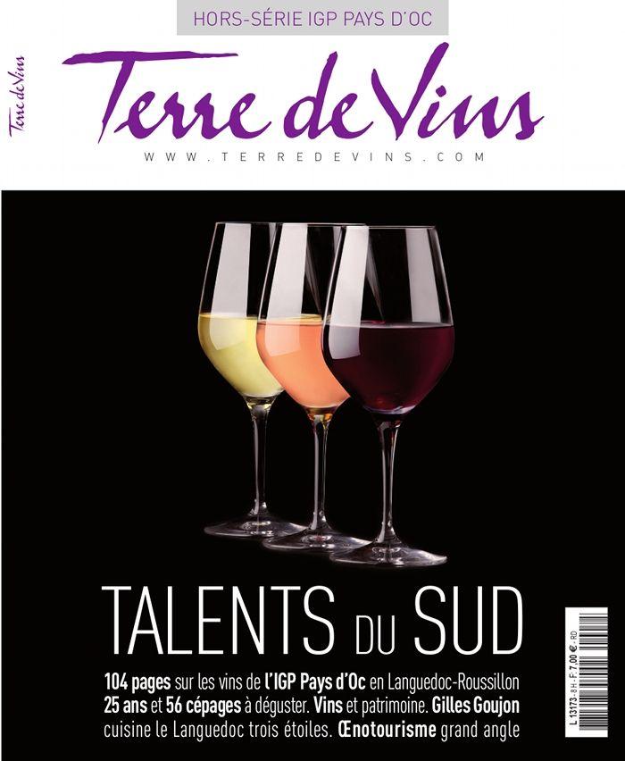 """Couverture """"Terre de Vins"""" hors-série """"Talents du Sud"""". Décembre 2013."""