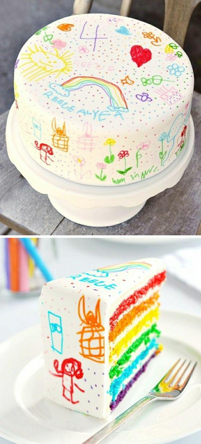 Gâteaux anniversaire fille gateau anniversaire 4 an fille idée déco gâteau