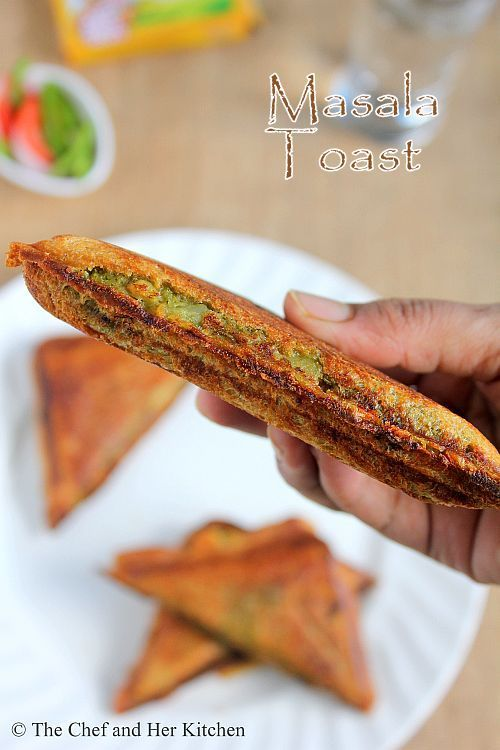 Bombay Masala Toast Sandwich | Potato stuffed Sandwich Recipe