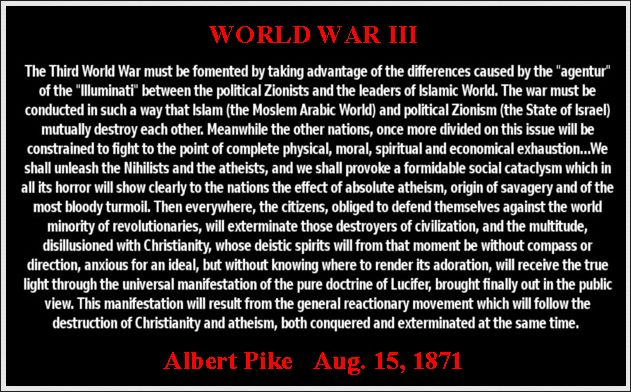 Albert Pike was a 33rd degree Mason. In 1869, he was a top leader in the Knights of the Ku Klux Klan. Pike was said to be a Satanist, who indulged in the occult, and he apparently possessed a bracelet which he used to summon Lucifer, with whom he had constant communication. Almost all US presidents and many members of Royal families are Mason too.