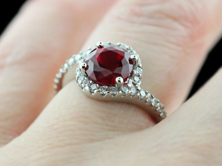 Ruby Wedding Ring For Her