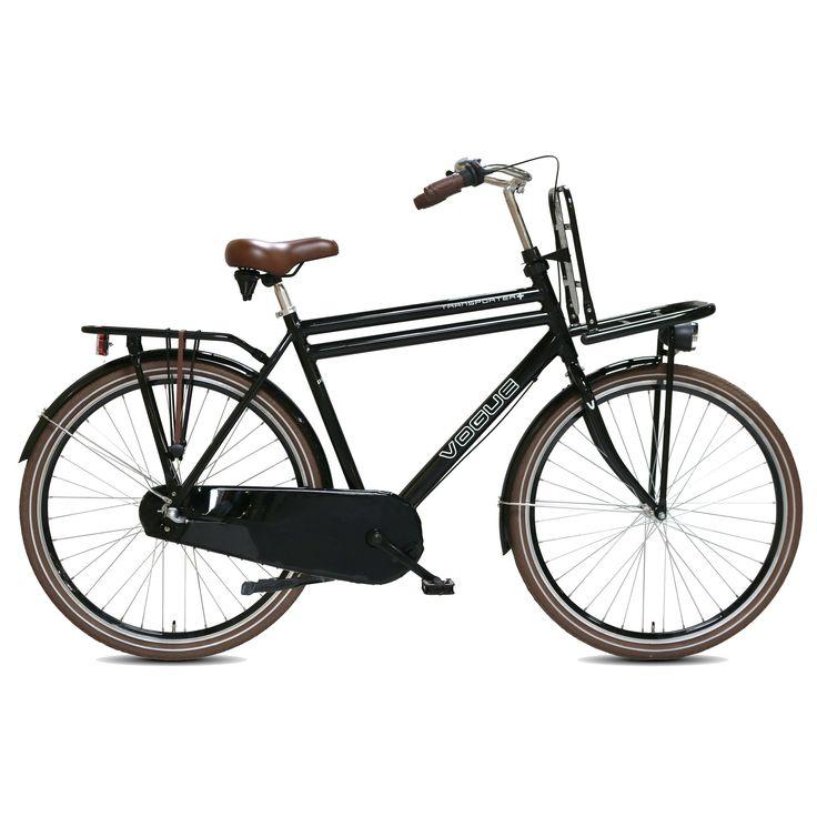 Vogue Transportfiets Transporter Plus heren 50cm zwart Zwart  Description: De Vogue Transporter is een fantastische en degelijke heren transportfiets in een mooie zwarte kleur die zich uitstekend leent voor het gebruik in de stad en naar school. Met de Shimano Nexus 3 versnellingen en de gripshift schakelaar schakel je moeiteloos en fiets je altijd lekker licht. Dit komt ook door het oversized aluminium frame en dubbelwandige aluminium velgen waardoor je fiets naast heel sterk ook heel licht…