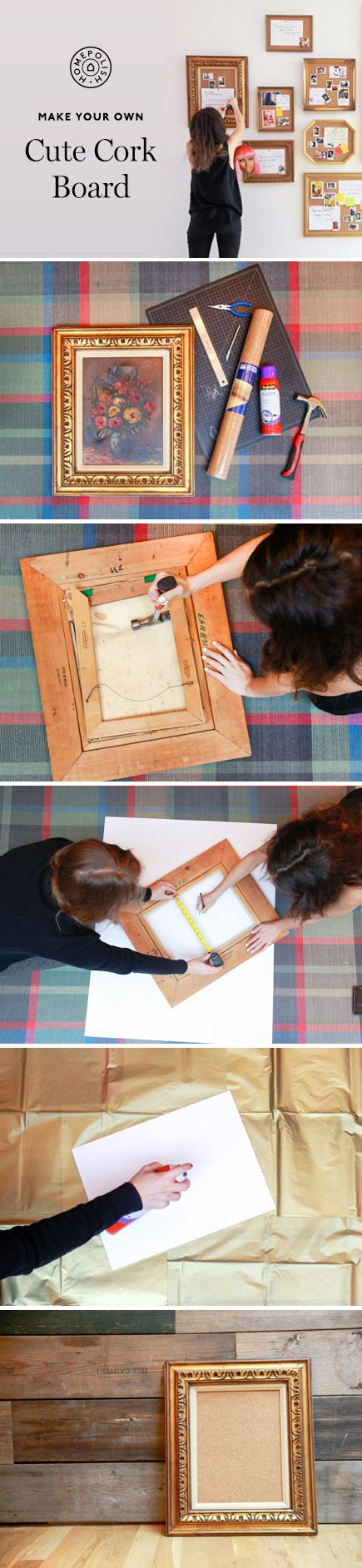 heres how to make a (cute) framed cork board (they look especially awesome when hung in a group)