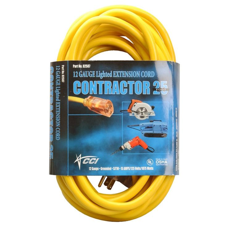 Coleman Cable 50 Yellow Extension Cord Power Cables Extension Cord Cord Power Cable