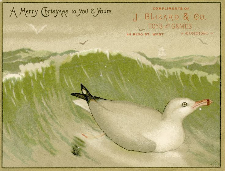 This palm-sized trade card wished 1880s Torontonians a Merry Christmas.