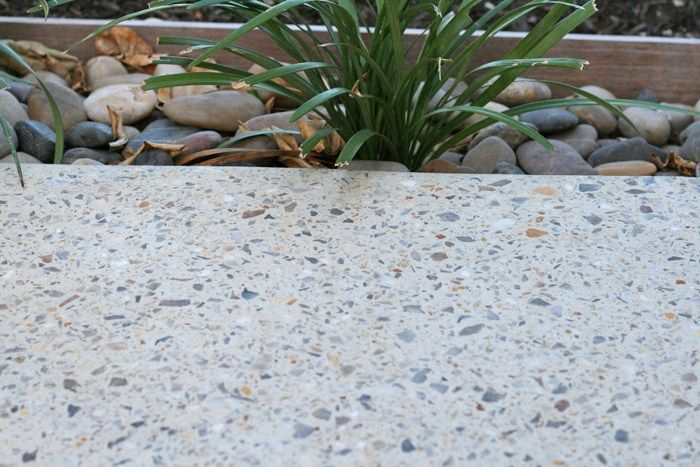 exposed aggregate outdoor polished concrete - Google Search