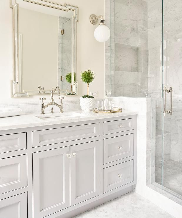 Elegant Bathroom Color Schemes: Best 25+ Gray And White Bathroom Ideas On Pinterest