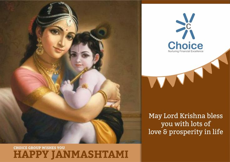 #ChoiceBroking Choice Family wishes you a happy Krishna #Janmashtami