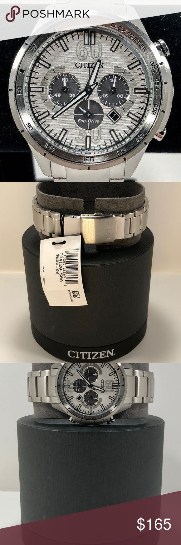 Citizen Eco-Drive Men's Watch CA4120-50A Citizen Eco-Drive Men's Watch CA4120-50A Stainless Band with white face New with tags and original box Item Number CA4120-50A Original retail price $295 Citizen Accessories Watches