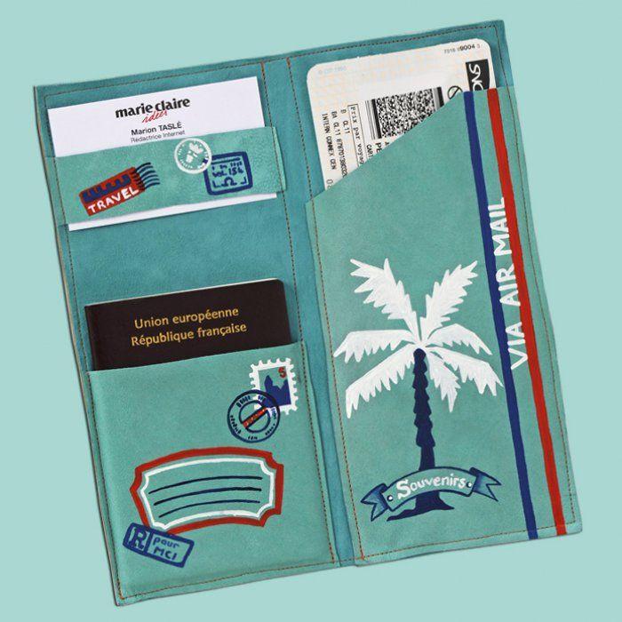Une+pochette+en+cuir+pour+protéger+ses+papiers+en+voyage.