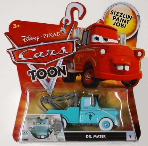 Disney / Pixar CARS TOONS Animated 1:55 Die Cast Car Dr. Mater by Mattel. $15.77. Disney Pixar Cars Toon Collection 1:55 scale die cast car from Mattel. For Ages 3 & Up. Disney / Pixar CARS TOONS Animated 1:55 Die Cast Car Dr. Mater