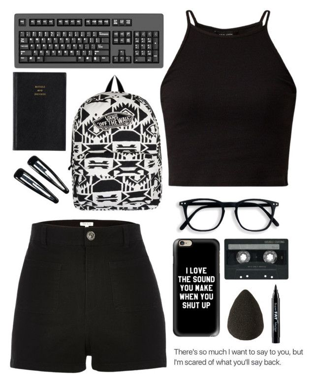 """""""'I'm always tired but never of you'"""" by be-robinson ❤ liked on Polyvore featuring Prada, Vans, River Island, Casetify, Clips, CASSETTE, NYX and beautyblender"""