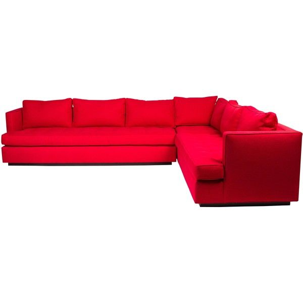 Pre Owned Swaim Sectional Sofa 4000 Liked On Polyvore Featuring Home