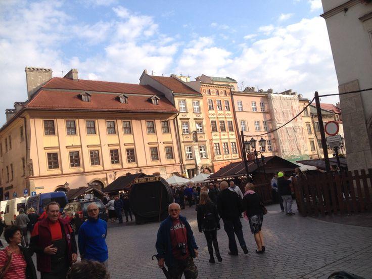 Open food market in Old Town Krakow
