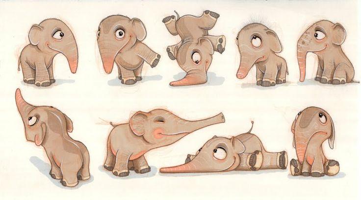 Elephant, baby  (illustration, art, character, design, creative) Visit thomasthesen.blogspot.com.br