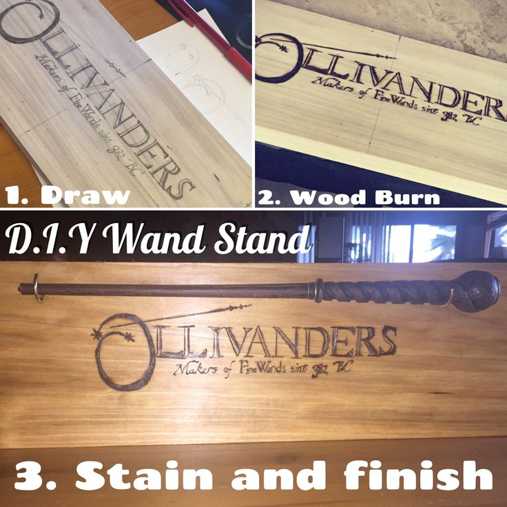 DIY wand stand! Show off your Harry Potter wands from Universal Studios! I originally didn't want to pay $50 for the stands they had at the park, so I decided to make my own wall mount!