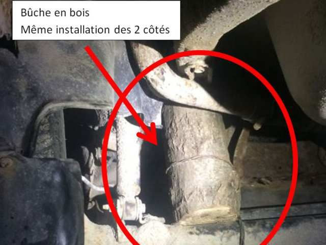 Quebec driver charged after police find suspension made from wooden logs and chicken wire