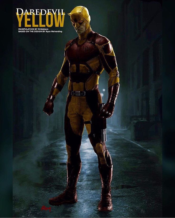 I would love for @netflix have Matt in his yellow costume. Whos with me?  Concept by MrSteiners on DeviantArt  #marvelcomics #Comics #marvel #comicbooks #daredevil