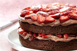 Double-Chocolate Strawberry Shortcake recipe