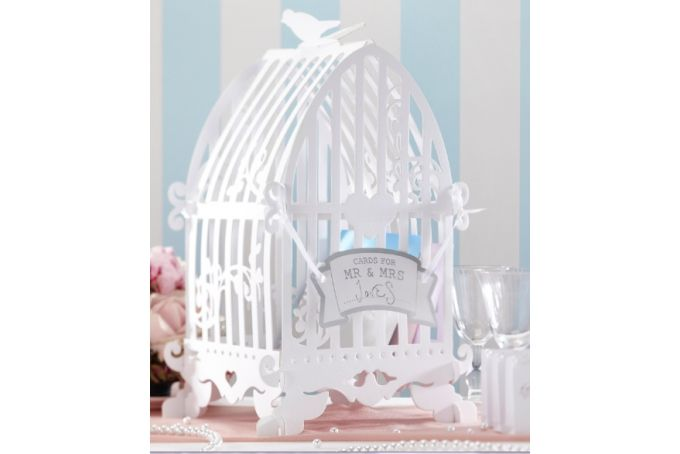 Vinatge Lace Bird Cage Card Holder by Ginger Ray