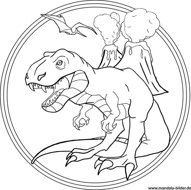 Mandala Ausmalbild T Rex Drachen Ausmalbilder Ausmalbilder Ausmalbilder Zum Drucken