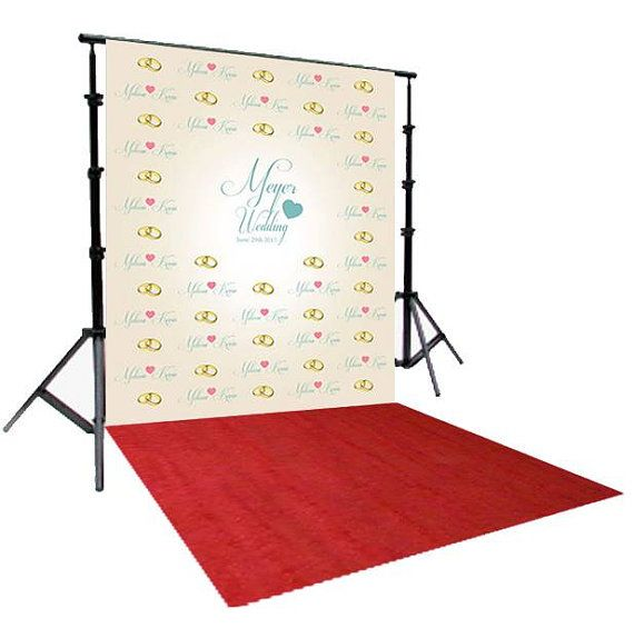 Step And Repeat Backdrop Wedding Red Carpet