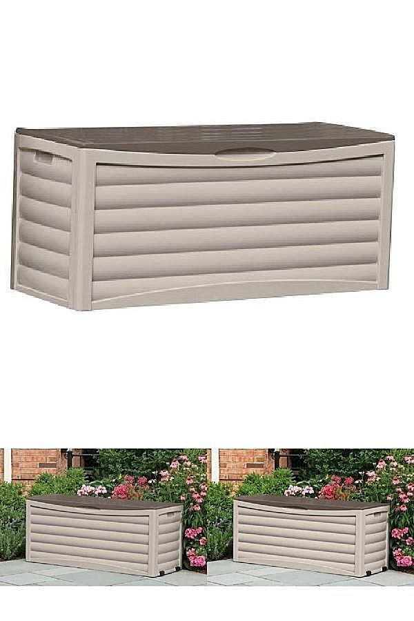 All Weather Large Outdoor Storage Shed Box 150 Gal Modern Patio Garden Furniture #DealsToday