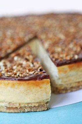 Cheesecake avoine miel vanille et pâte de pécans !
