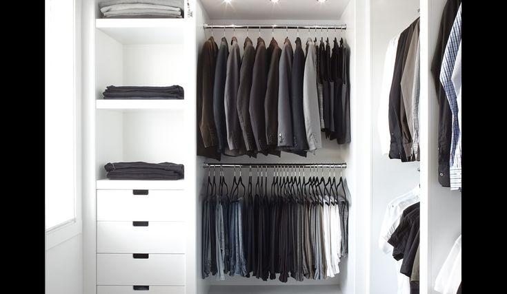 Dressing blanc satin :: Mobilier sur mesure :: Gonthier - Cuisines et Salles de bains