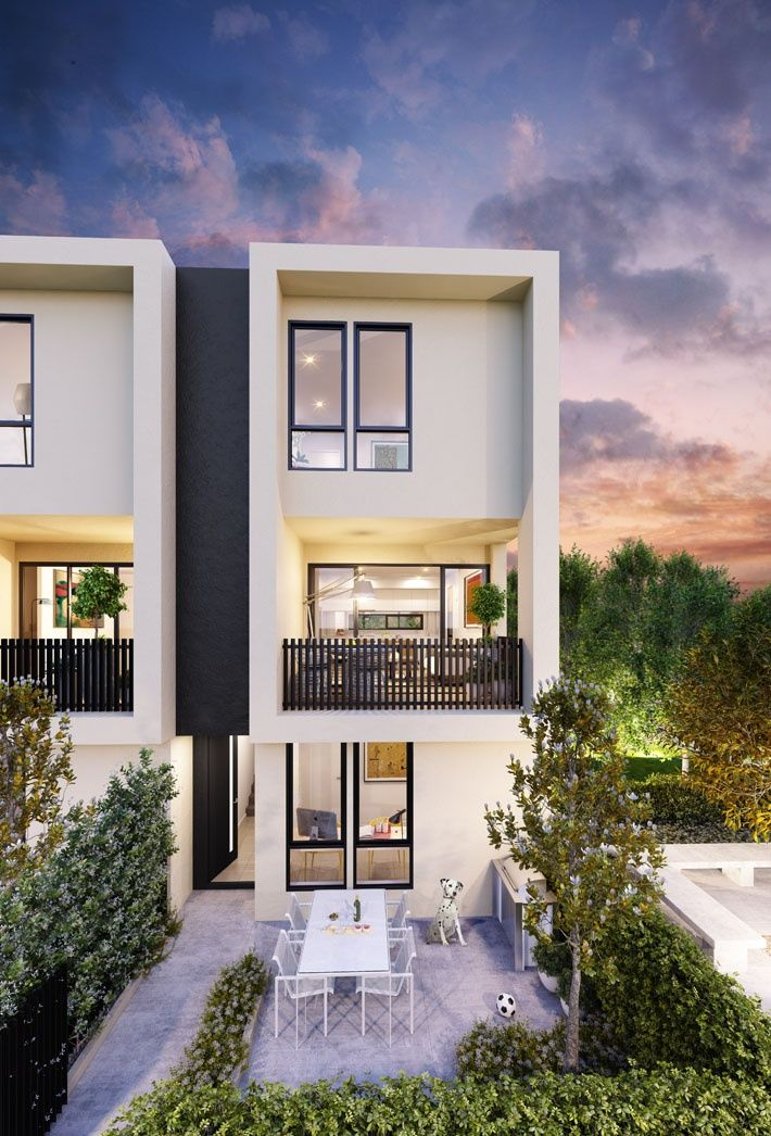 39 the grove 39 townhouses in maidstone melbourne by conrad for Duplex home designs melbourne
