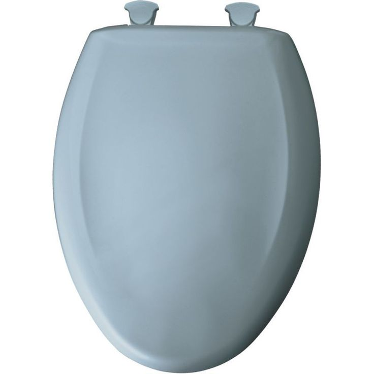 Bemis 1200SLOWT Elongated Closed-Front Toilet Seat and Lid with Whisper-Close® Cerulean Blue Accessory Toilet Seat Elongated