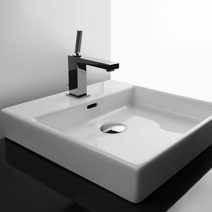 Zeige Details für Valdama - Plain 45W Badezimmer Aufsatzwaschbecken