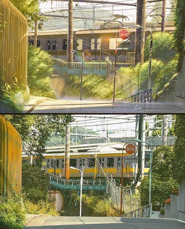 Studio Ghibli Real Life Locations Garden Of Words Anime