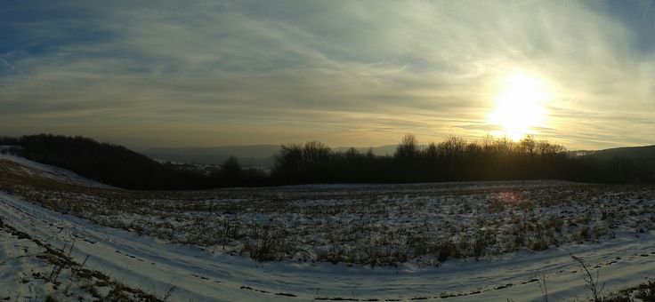 #winter #snow #country #land #slovakia #field #sun   Slovakia, nature