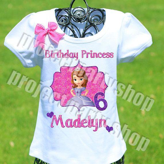 Sofía la primera camisa del cumpleaños Princesa Sofía