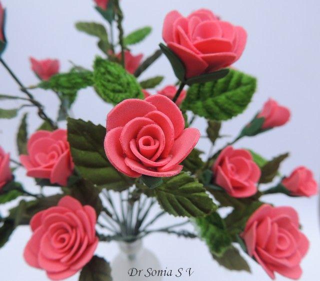 Flower Roses Pinterest: Handmade Foam Rose Flower Tutorial