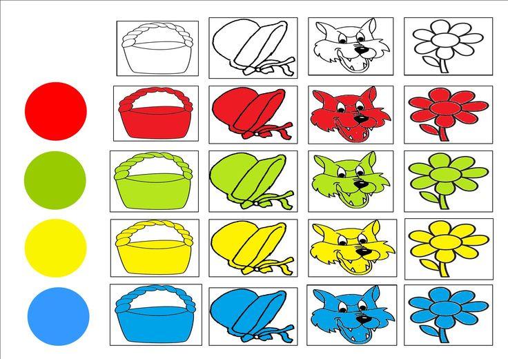Matrix roodkapje 1 (Zie blanco matrix = herbruikbaar + volgorde altijd aanpasbaar)