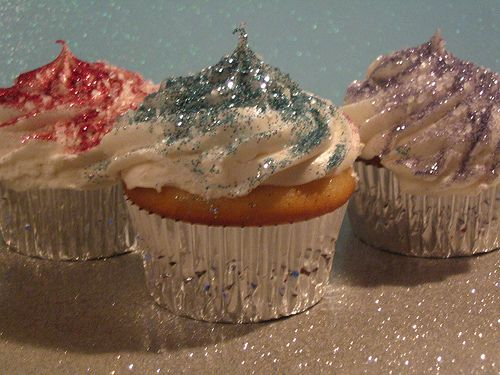Glittery cupcakes..