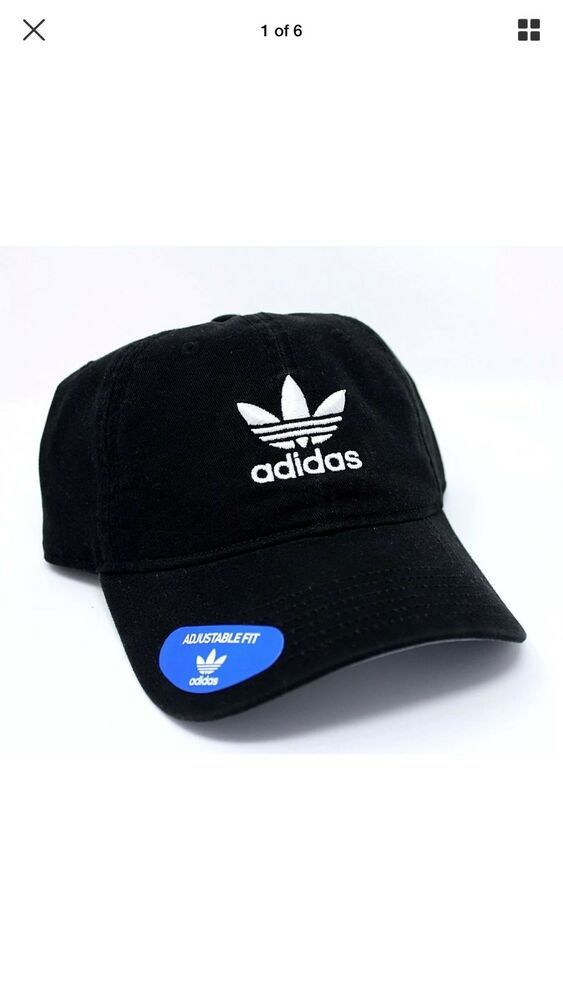 c420d305ef9d adidas Men s Originals Relaxed Strap Back NEW Cap Hat Trefoil Black   fashion  clothing  shoes  accessories  mensaccessories  hats (ebay link)