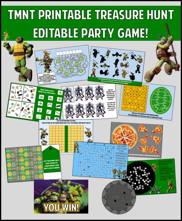 These Tmnt Party Games Are Totally Tubular Dude Diy
