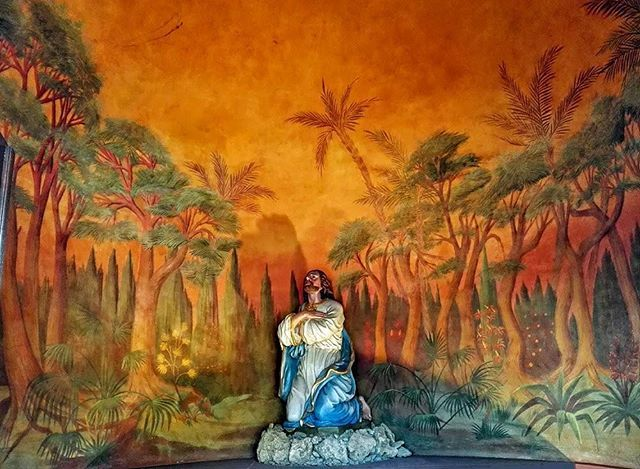 #Bessel #Kapelle in #Buchen #Odenwald - #Barock #StOswald #AbtBessel #Rochus #StRochus #Kirche #chapel #palms #artwork #art #Kunst #Wandmalerei #katholisch #Christen #Jesus #Christ #Gott #god #Religion #christian #Kirchengemeinde #Germany #Wallduern #Walldürn #history #Denkmal © Ralf Kaufmann