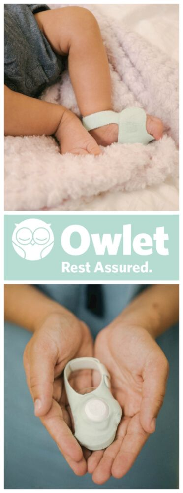 Owlet Baby Monitors can offer you the peace of mind you never thought possible with a newborn.  A little sock measures heart rate and oxygen levels that can be seen on a phone app.  The app and the base of the monitor alerts you if heart rate or oxygen levels become abnormal.