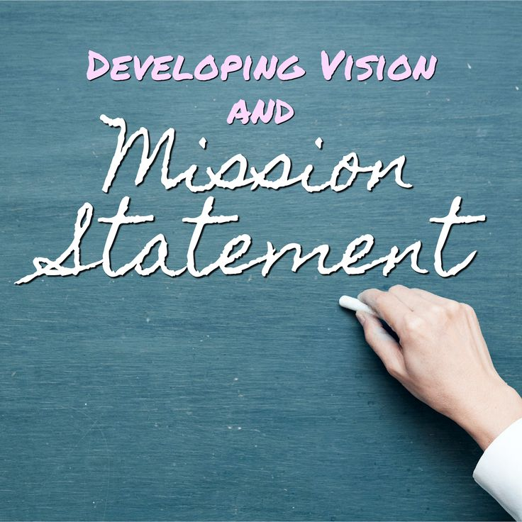 how to write your vision and mission statement