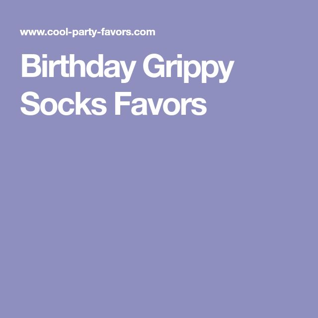 Birthday Grippy Socks Favors