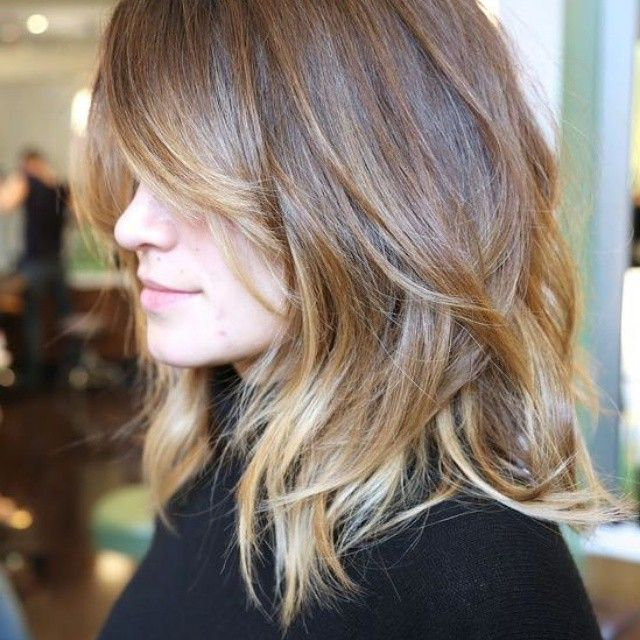 perfect cut and color, but more ginger tone