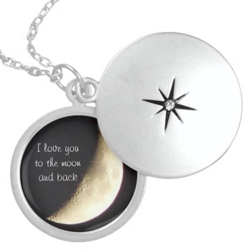I love you to the moon and back necklace/locket