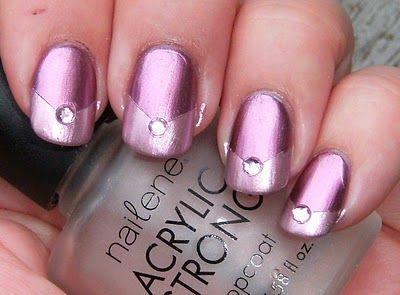 easy chevron fingernails Pretty:)Nails Art, Chrome Anemones, Pink Nails, Sally Hansen, Hansen Super, Pink Diamonds, Art Nails, Anemones Diamonds, Chevron Nails