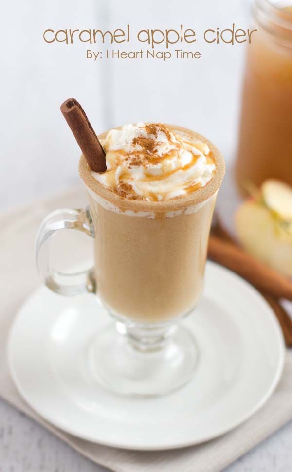 Sweet cream caramel apple cider from iheartnaptime.net ... the perfect holiday treat! Click for recipe.