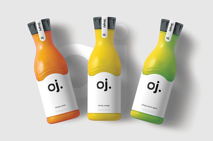 - Designed by: aa_ Design Studio, United Kingdom. - Concept for a natural juice company branding.